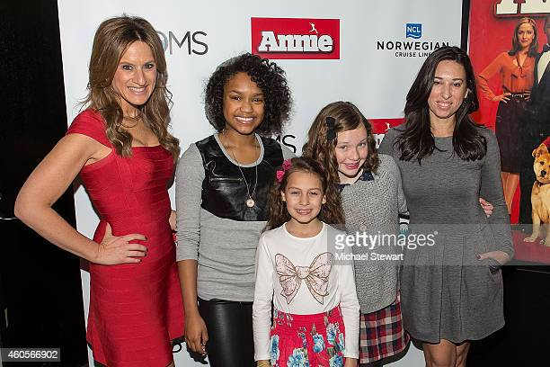 Denise Albert Eden DuncanSmith Nicolette Pierini Zoe Margaret Colletti and Melissa Musen attend an 'Annie' Screening With The Moms at Sony Screening...
