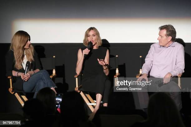 Denise Albert Erinn Hayes and Bryan Cranston attend the moms host a Mamarazzi event special screening of an episode of The Dangerous Book For Boys at...