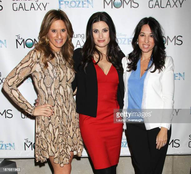 Denise Albert Idina Menzel and Melissa MusenGerstein attend Frozen New York Special Screening at AMC Lincoln Square Theater on November 11 2013 in...