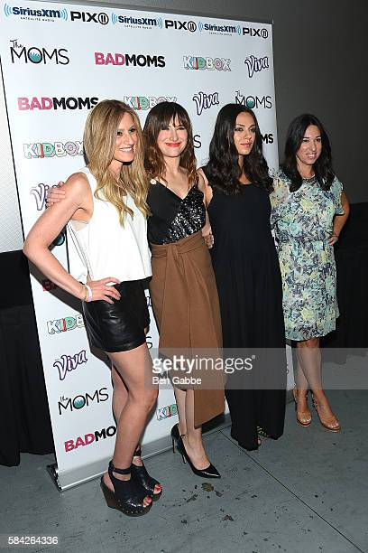 Denise Albert Kathryn Hahn Mila Kunis and Melissa Musen Gerstein attend the Bad Moms Mamarazzi Screening at AMC Empire 25 theater on July 28 2016 in...
