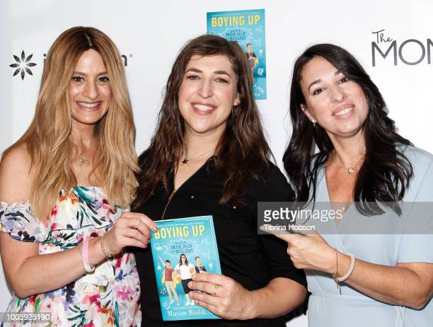 Denise Albert Mayim Bialik and Melissa Musen Gerstein attend the Mamarazzi event hosted by THE MOMS with Mayim Bialik celebrating her new book...