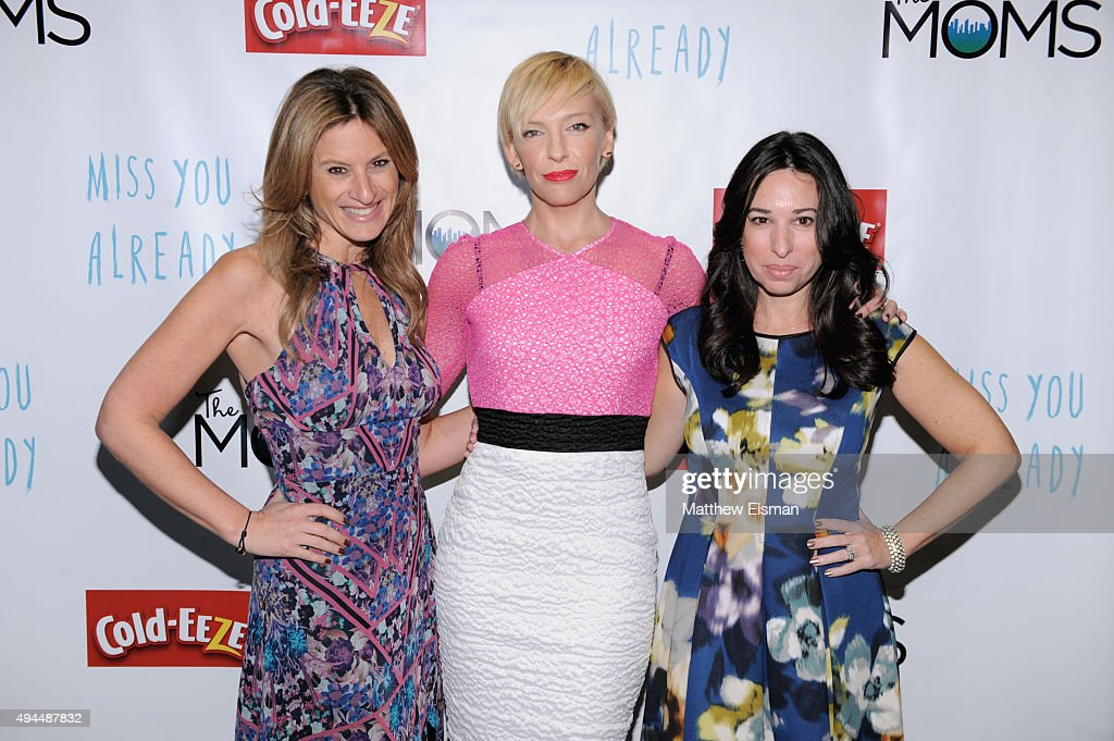 Denise Albert, Toni Collette, and Melissa Musen Gerstein attend a Mamarazzi breakfast and talk back event with 'Miss You Already' at The Park Avenue Screening Room on October 27, 2015 in New York City.