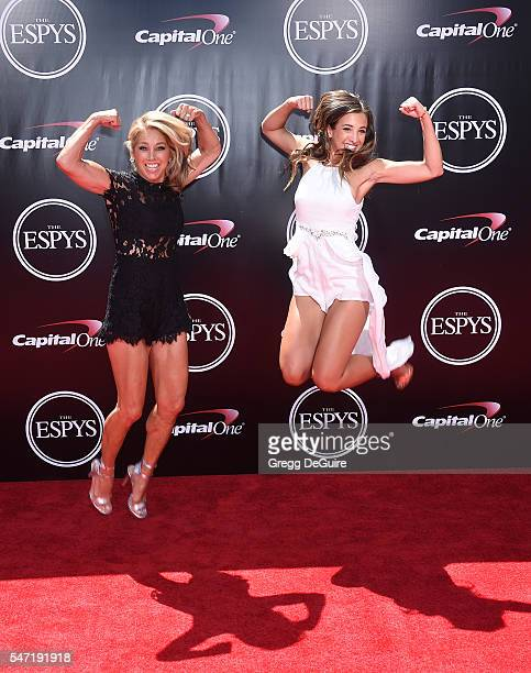 Denise Austin and daughter Katie Austin arrive at The 2016 ESPYS at Microsoft Theater on July 13 2016 in Los Angeles California