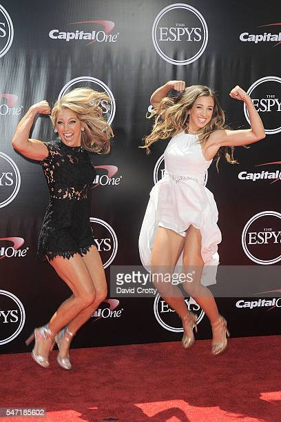 Denise Austin and Kate Austin attend the 2016 ESPYS at Microsoft Theater on July 13 2016 in Los Angeles California