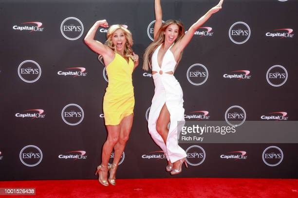 Denise Austin and Katie Austin attend the 2018 ESPYS at Microsoft Theater on July 18 2018 in Los Angeles California