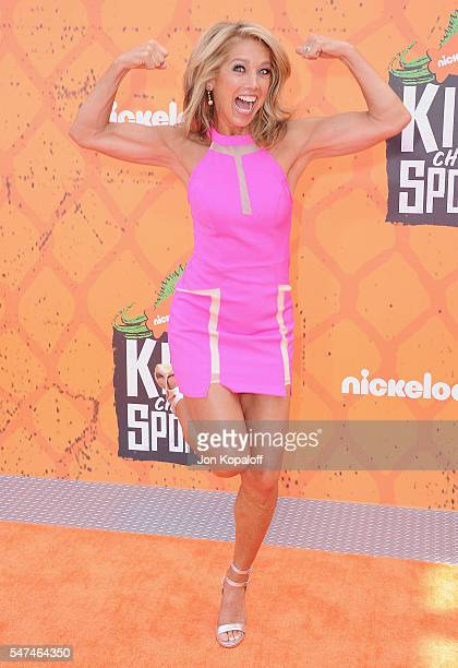 Denise Austin arrives at Nickelodeon Kids' Choice Sports Awards 2016 at UCLA's Pauley Pavilion on July 14 2016 in Westwood California