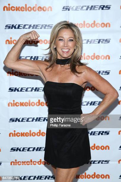 Denise Austin attends the 8th Annual SKECHERS Pier to Pier Friendship Walk Check Presentation at Shade Hotel on March 2 2017 in Redondo Beach...