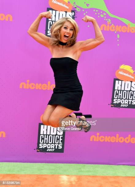 Denise Austin attends the Nickelodeon Kids' Choice Sports Awards 2017 at Pauley Pavilion on July 13 2017 in Los Angeles California