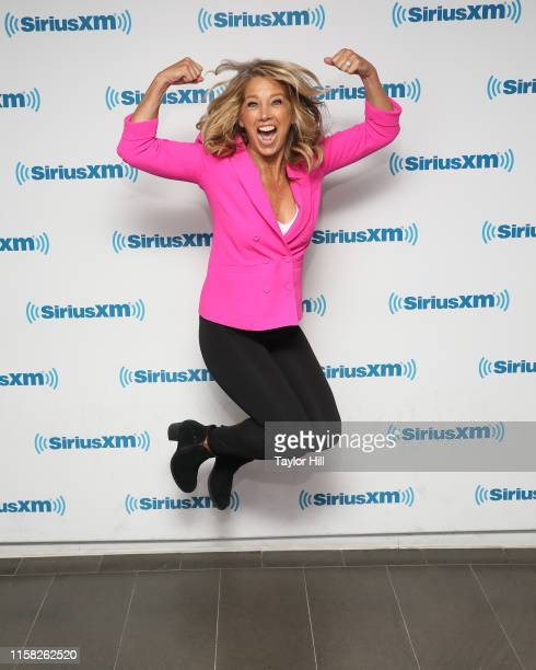 Denise Austin visits the SiriusXM Studios on June 25 2019 in New York City