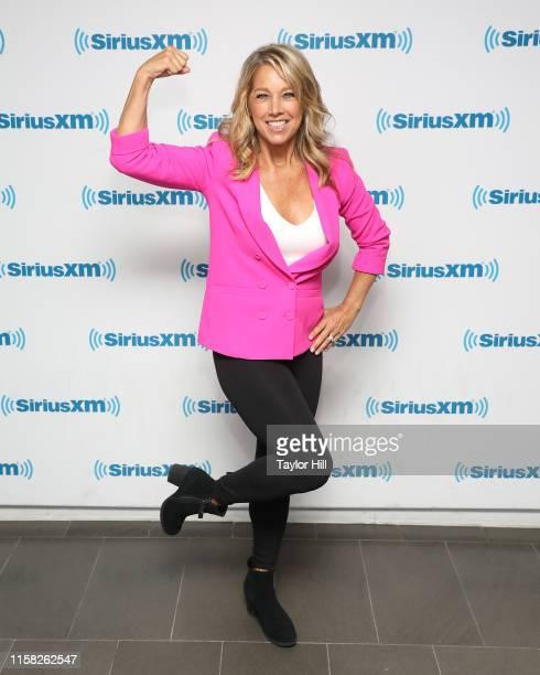 Denise Austin visits the SiriusXM Studios on June 25, 2019 in New York City.