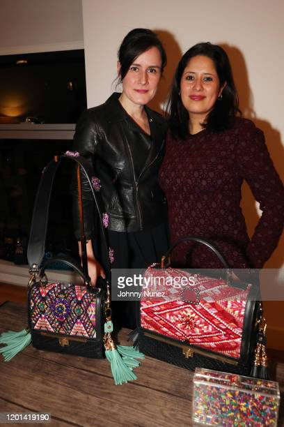 Denise Baca and Tanya Melendez attend the Marias By Alida Boer Cocktail Reception on January 22, 2020 in New York City.
