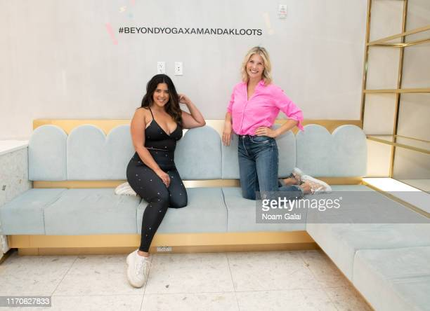 Denise Bidot and Amanda Kloots attend the Beyond Yoga x Amanda Kloots Collaboration Launch Event on August 27 2019 in New York City
