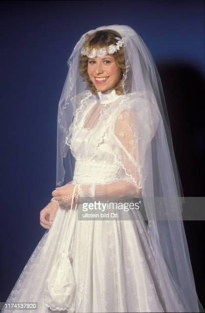 Denise Biellmann an ihrem Hochzeitstag 1984