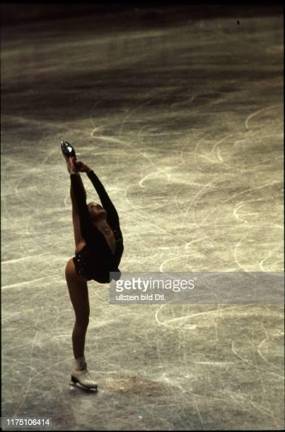 Denise Biellmann at the world figure skating championships 1981