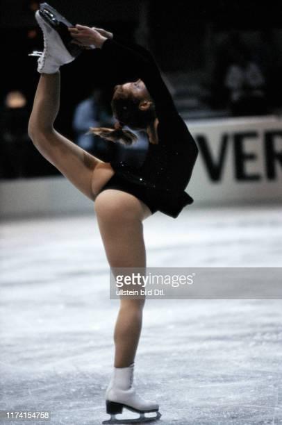 Denise Biellmann making a pirouette