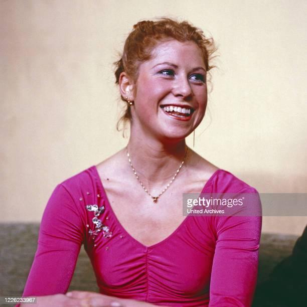 Denise Biellmann Schweizer Eiskunstläuferin Deutschland um 1990