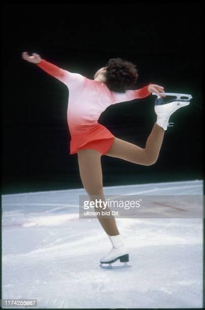 Denise Biellmann trainiert auf der Kunsteisbahn Dolder 1979