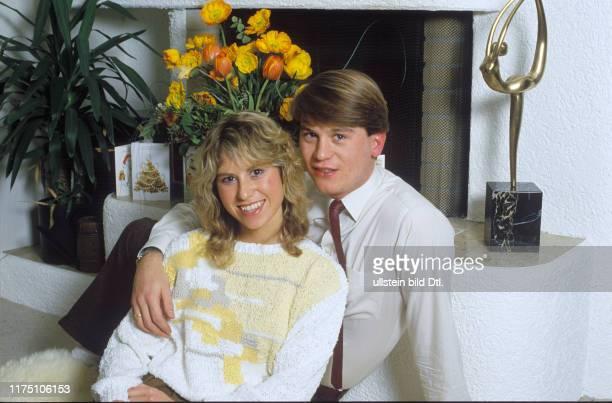 Denise Biellmann with husband Colin Dawson 1985
