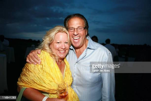 Denise Bornschein and Glen Miles during Hamptons Magazine's Cindi Cook and Cristina Cuomo Host Ruinart Champaign Experience with Kathy Sloane and...
