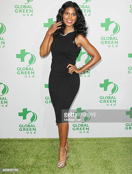Denise Boutte arrives at Global Green USA's 12th Annual PreOscar Party held at Avalon Hollywood on February 18 2015 in Los Angeles California