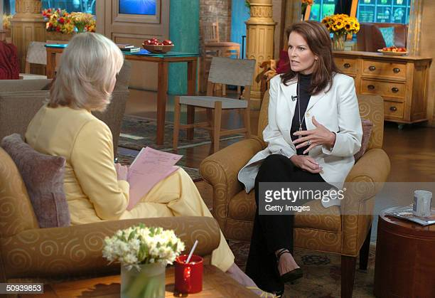 Denise Brown appears on Good Morning America with Diane Sawyer to talk about the controversial OJ Simpson interview on the eve of the 10th...