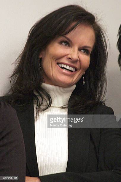 Denise Brown attends the news conference to reintroduce the Department of Peace And Nonviolence Bill on February 06 2007 in Washington DC