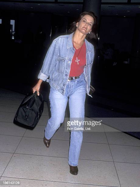 Denise Brown on June 7 1996 arrives at Los Angeles International Airport in Los Angeles California