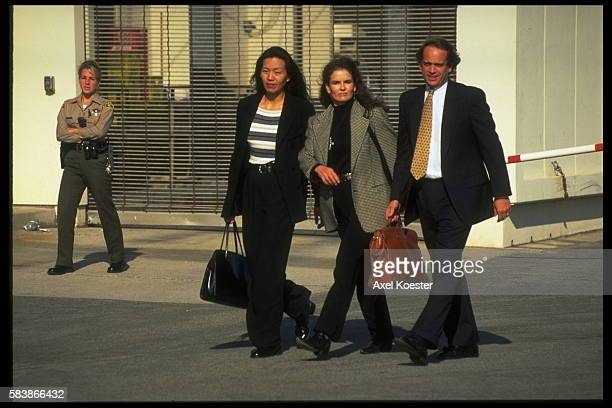 Denise Brown the sister of Nicole with her lawyer John Kelly