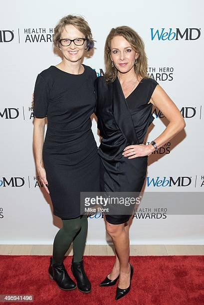 Denise Campbell and Jill Sutton attend the 2015 Health Hero Awards at The Times Center on November 5 2015 in New York City