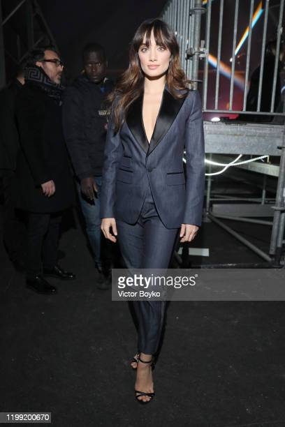 Denise Capezza attends the Dsquared2 fashion show during the Milan Men's and Women's Fashion Week Fall Winter 20 on January 10, 2020 in Milan, Italy.