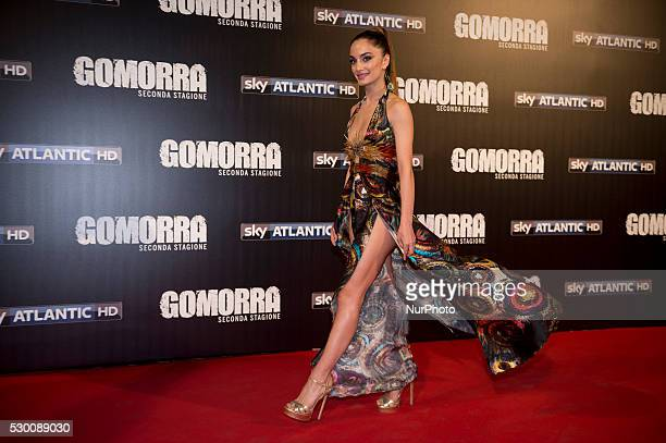 Denise Capezza attends the 'Gomorra 2 - La serie' on red carpets at The Teatro dell'Opera in Rome, Italy on May 10, 2016.