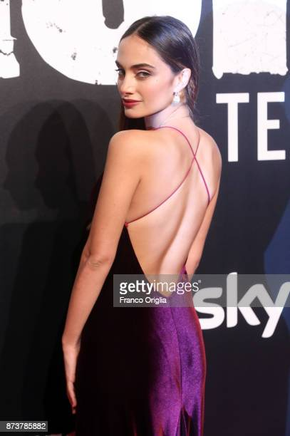 Denise Capezza attends the 'Gomorra' premiere on November 13, 2017 in Rome, Italy.