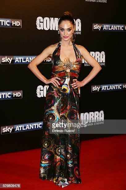 Denise Capezza attends the 'Gomorra' Tv Show premiere at Teatro Dell'Opera on May 09, 2016 in Rome.