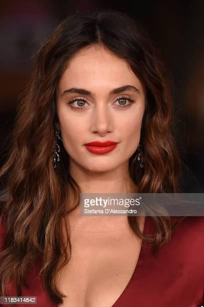 "Denise Capezza attends the red carpet of the movie ""Negramaro. L'anima vista da qui"" during the 14th Rome Film Festival on October 25, 2019 in Rome,..."