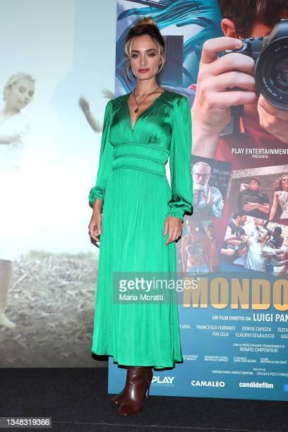 "Denise Capezza attends the ""Un Mondo In Più"" photocall during the 19th Alice Nella Città 2021 at on October 23, 2021 in Rome, Italy."
