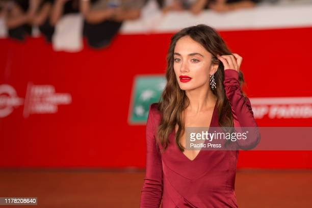 "Denise Capezza on the Red carpet del film ""Negramaro. Lanima vista da qui"", on eighth day of the 14th edition of the Rome Film Fest."