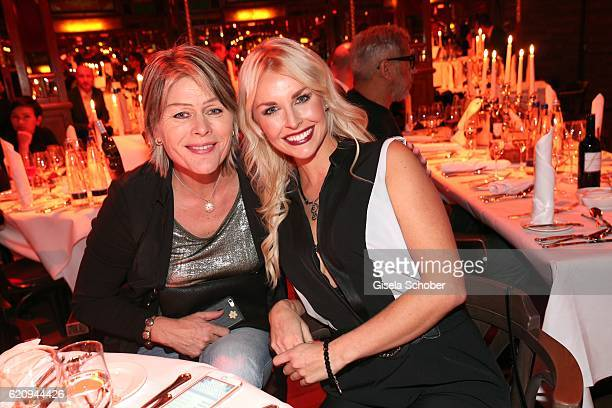 Denise Cotte and her mother Anke Cotte during the VIP premiere of Schubeck's Teatro at Spiegelzelt on November 3 2016 in Munich Germany