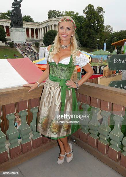 Denise Cotte sighted at Kaefers restaurant at the Oktoberfest 2015 at Theresienwiese on on September 22 2015 in Munich Germany