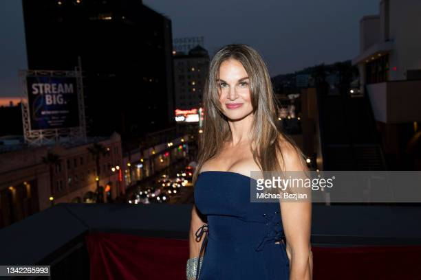 Denise Crovetti arrives at 17th Annual Oscar-Qualifying HollyShorts Film Festival Opening Night at Japan House Los Angeles on September 23, 2021 in...