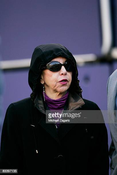 Denise DeBartolo York owner of the San Francisco 49ers looks on during the NFL game against the New York Giants on October 19 2008 at Giants Stadium...
