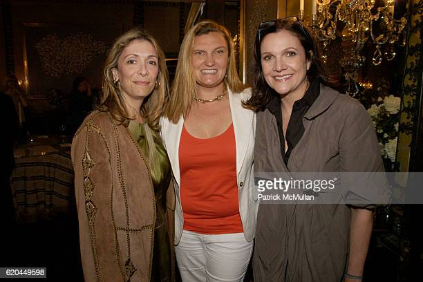 Denise DeLuca Melanie Holland and Leslie Stevens attend Christie's Hosts Kickoff for The Society of Memorial Sloan Kettering Cancer Center's Fall...