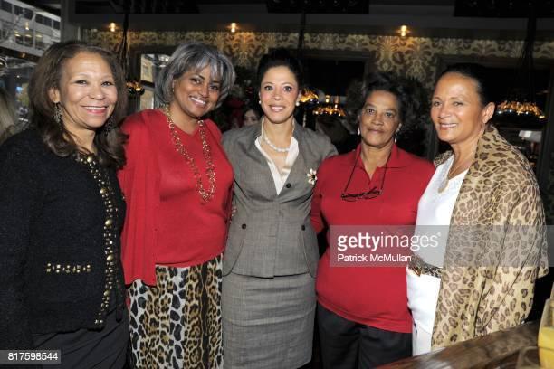 Denise Ellison Robin Verges Michelle Patterson Kay Johnson and Michelle Marsh attend DEBBIE BANCROFT Hosts Luncheon Honoring MICHELLE PAIGE PATTERSON...