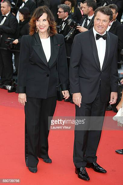 Denise Fabre and Christian Estrosi attend the 'Cafe Society' premiere and the Opening Night Gala during the 69th annual Cannes Film Festival > on May...