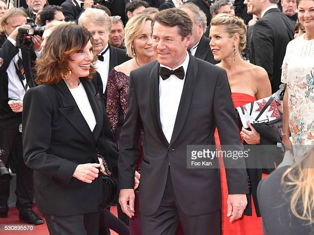 Denise Fabre and Christian Estrosi attend the screening of 'Cafe Society' at the opening gala of the annual 69th Cannes Film Festival at Palais des...