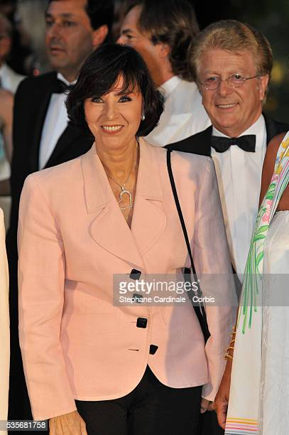 Denise Fabre and Francis Vandenhende attend the 60th Red Cross Ball in Monaco