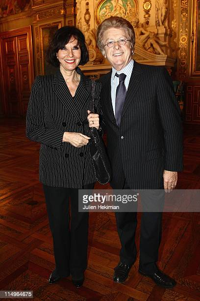 Denise Fabre and her husband Francis Vandenhende attend '2000 Femmes Pour 2012' operation launch at Mairie de Paris on May 31 2011 in Paris France
