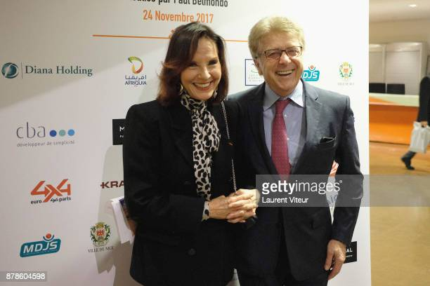 Denise Fabre and her Husband Francis Vandenhende attend The Gazelles directed by Paul Belmondo Paris Premiere at UNESCO on November 24 2017 in Paris...