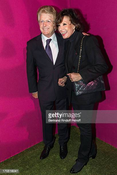 Denise Fabre and her husband Francis Vandenhende attend the Piaget Rose Day Private Event in Orangerie Ephemere at Jardin des Tuileries on June 13...
