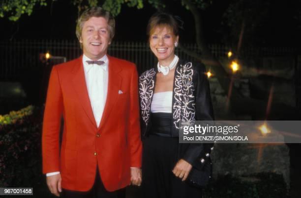 Denise Fabre et son mari Francis Vandenhende au mariage de Yves Mourousi le 28 spetembre 1985 à Nimes France