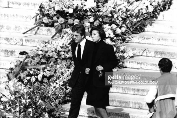 Denise Fabre et son mari Francis Vandenhende sont venus assister à la messe célébrée en l'église de la Madeleine le 29 septembre 1983 Paris France